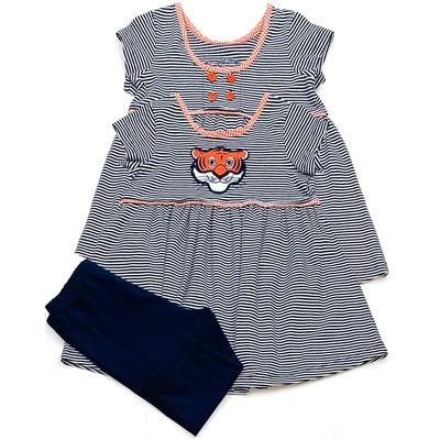 Auburn Ishtex Girl Tiger Capri Set