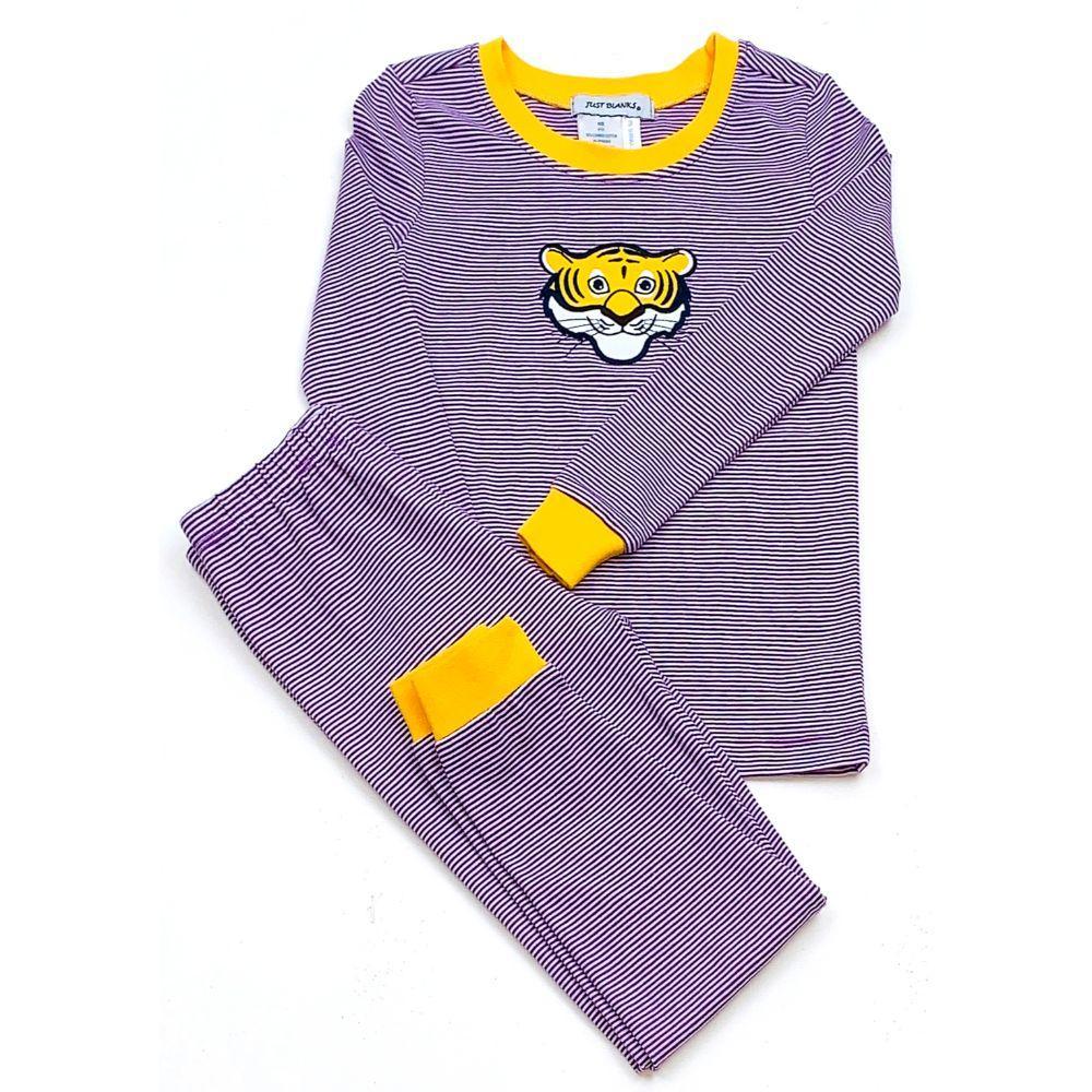 Lsu Ishtex Toddler Striped Pajama Set