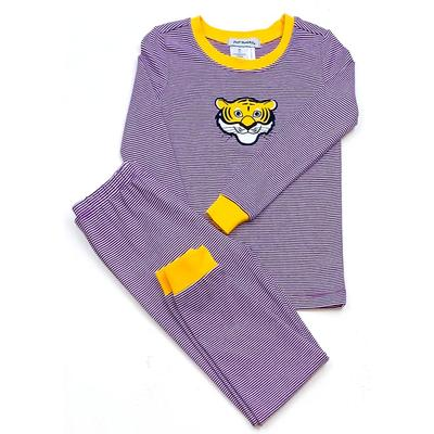 LSU Ishtex Toddler Striped Pajama Set