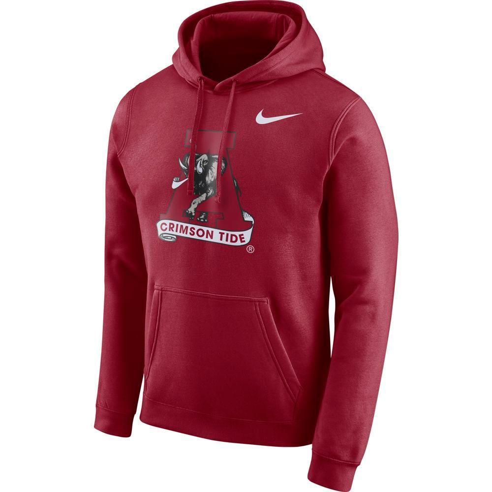 Alabama Nike Fleece Club Pullover Hoodie
