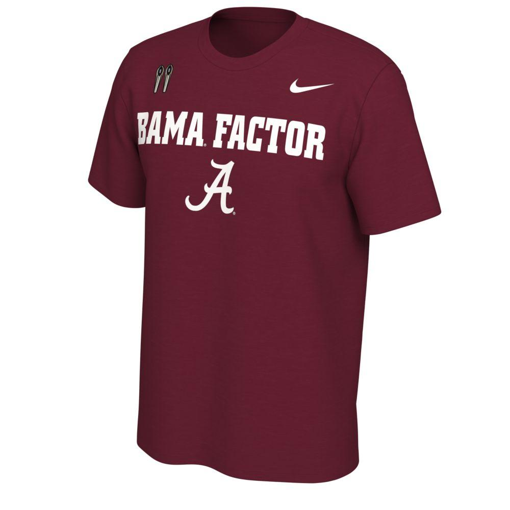 Alabama Nike Bama Factor Short Sleeve Tee