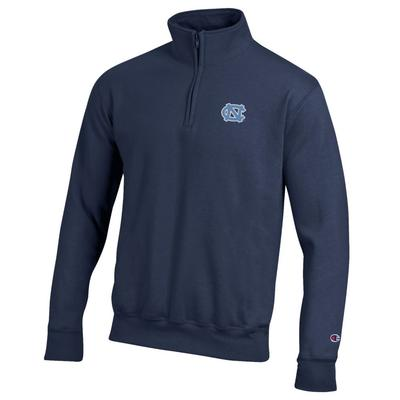 North Carolina Champion Men's NC Logo Applique 1/4 Zip Pullover