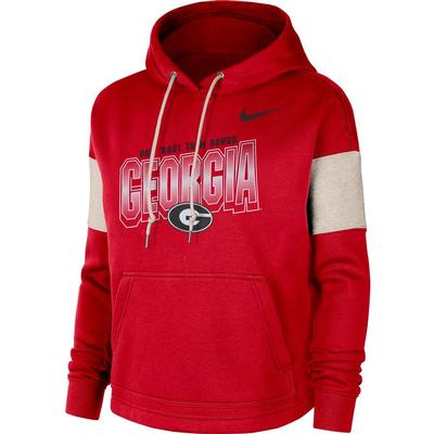 Georgia Women's Nike Local Pullover Hoodie
