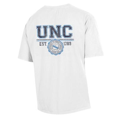 North Carolina UNC Crest Comfort Wash Pocket Tee