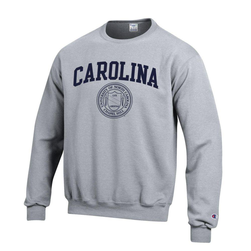 North Carolina Champion College Seal Fleece Crew