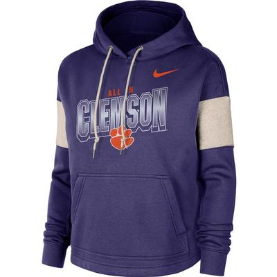 Clemson Women's Nike Local Pullover Hoodie