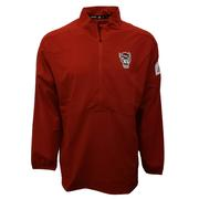Nc State Adidas Men's Game Mode Long Sleeve Woven 1/4 Zip