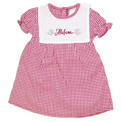 Alabama Little Kings Infant Gingham Dress