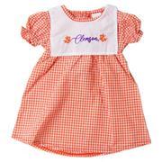 Clemson Little Kings Infant Gingham Dress