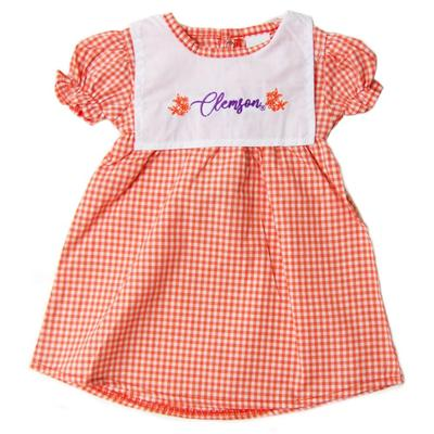 Clemson Little Kings Infant Gingham Dress