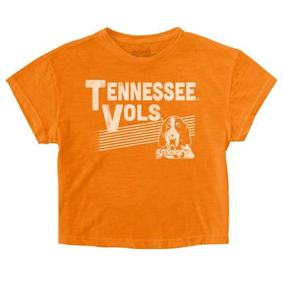 Tennessee Retro Brand Youth Crop Tee