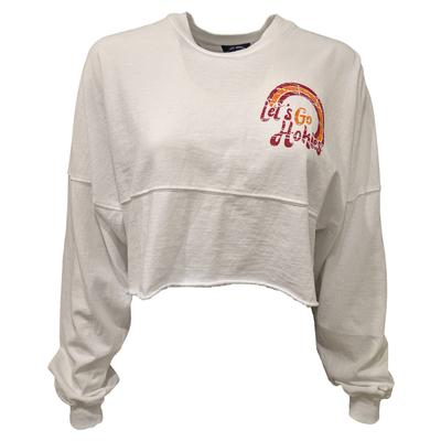 Virginia Tech Raw Hem Crop Top Spirit Jersey
