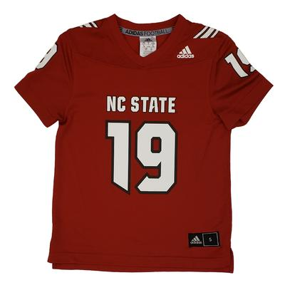 NC State Adidas Youth Replica 19 Jersey RED