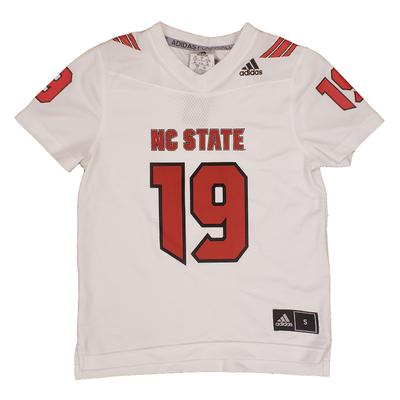 NC State Adidas Youth Replica 19 Jersey WHITE