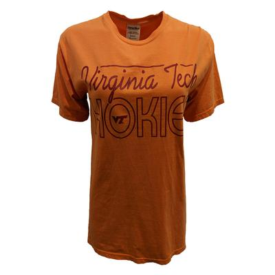 Virginia Tech Comfort Wash Script T-Shirt