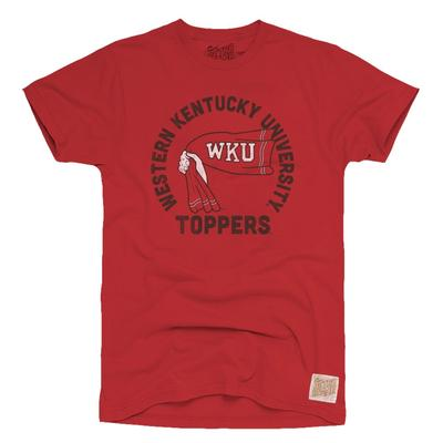 Western Kentucky Retro Brand Youth Rally Towel Tee