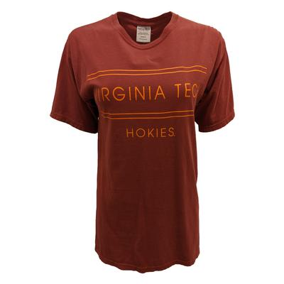 Virginia Tech Comfort Wash Double Bar T-Shirt