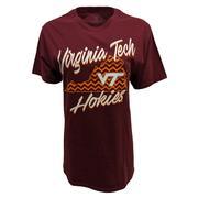 Virginia Tech Chevron Pattern Script T- Shirt