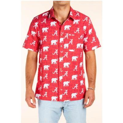 Alabama Tellum and Chop Elephant Print Hawaiian Shirt