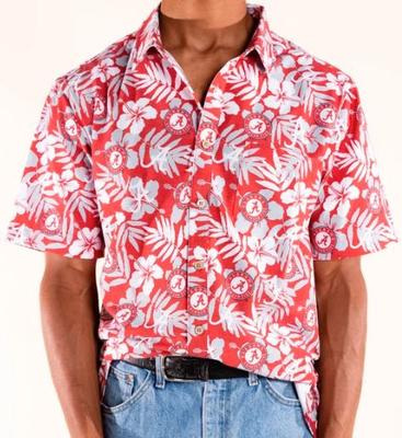 Alabama Tellum and Chop Floral Print Hawaiian Shirt