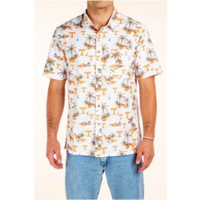 Tennessee Tellum and Chop Men's Palm Island Printed Hawaiian Shirt