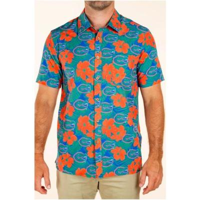 Florida Tellum and Chop Floral Printed Hawaiian Shirt