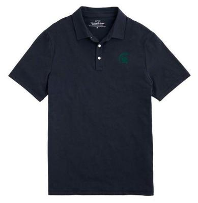 Michigan State Vineyard Vines Solid Edgartown Polo