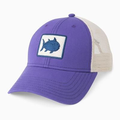 Southern Tide Fly Patch Trucker Hat PURPLE/MESH