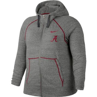 Alabama Nike Vintage Gym Full Zip Hoodie - Plus Sizes