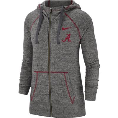 Alabama Nike Vintage Gym Full Zip Hoodie