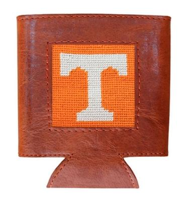 Tennessee Smathers & Branson Leather Needlepoint Coozie
