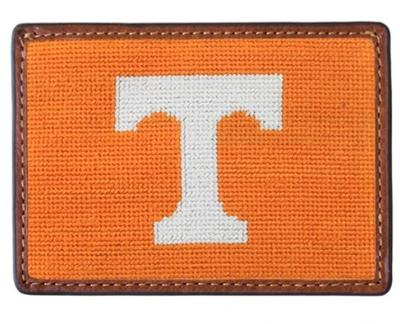 Tennessee Smathers & Branson Leather Needlepoint Card Wallet