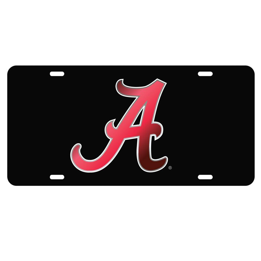 Alabama License Plate Black/Crimson Script A Logo