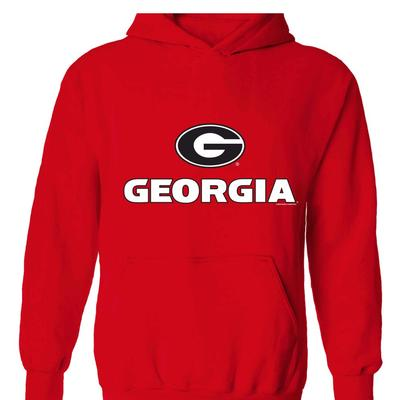 Georgia Men's Logo Screen Fleece Hoodie