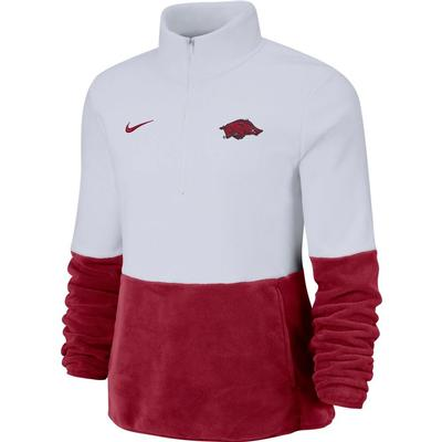 Arkansas Nike Women's Therma Half Zip Fleece Pullover