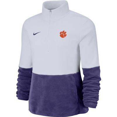 Clemson Nike Women's Therma Half Zip Fleece Pullover