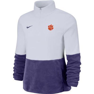 Clemson Nike Women's Therma Half Zip Fleece Pullover