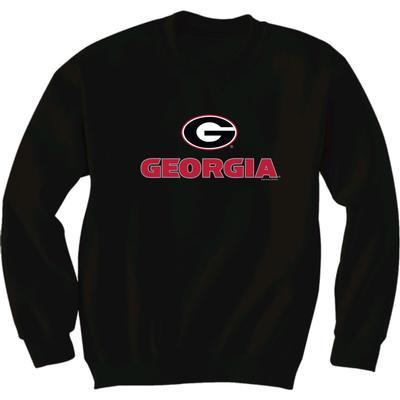 Georgia Logo Fleece Crew Sweatshirt