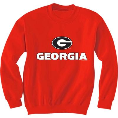 Georgia Logo Fleece Crew Sweatshirt