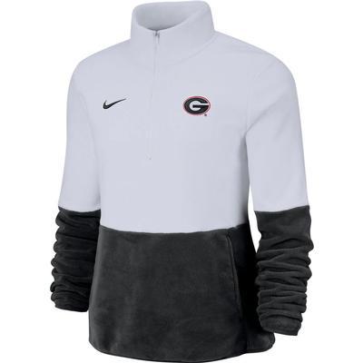 Georgia Nike Women's Therma Half Zip Fleece Pullover