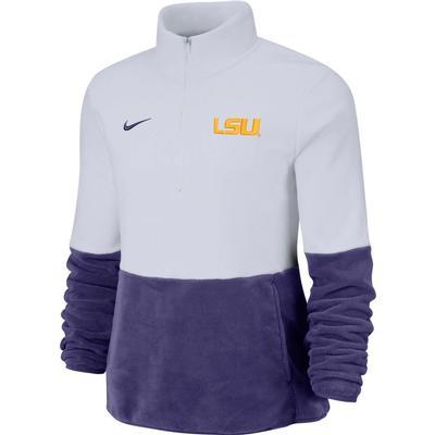 LSU Nike Women's Therma Half Zip Fleece Pullover