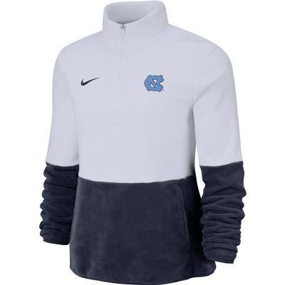 UNC Nike Women's Therma Half Zip Fleece Pullover