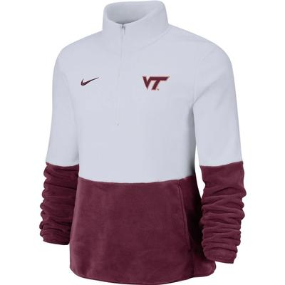 Virginia Tech Nike Women's Therma Half Zip Fleece Pullover