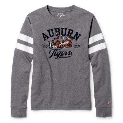 Auburn League Youth Original Aubie Long Sleeve Script Tee
