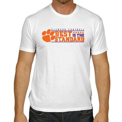 Clemson Men's Best is the Standard Tee Shirt WHITE