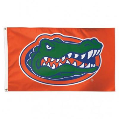 Florida 3' X 5' Orange Gator Logo House Flag