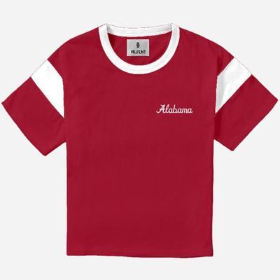 Alabama Hillflint Women's Vault Script Logo Varsity Tee Shirt