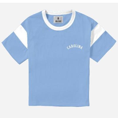 North Carolina Hillflint Women's Vault Block Arch Logo Varsity Tee Shirt