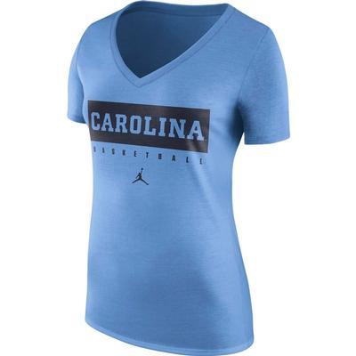 UNC Nike Women's Tri-Blend V-Neck Tee