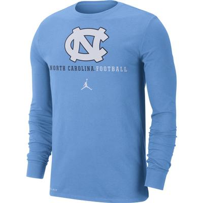 UNC Nike Dri-FIT Cotton Long Sleeve T-Shirt